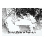 "Reunion Dinner Picture Invitation 3.5"" X 5"" Invitation Card"