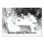 "Reunion Dinner Picture Invitation 4.5"" X 6.25"" Invitation Card"