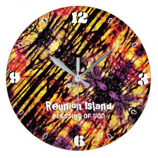 Reunion Island 93 Large Clock