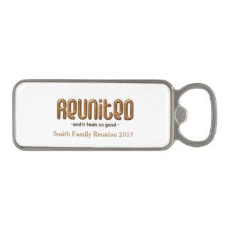 Reunited Family Reunion Magnetic Bottle Opener