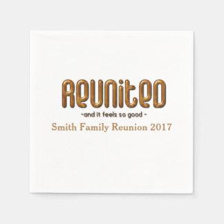Reunited Family Reunion Paper Napkin