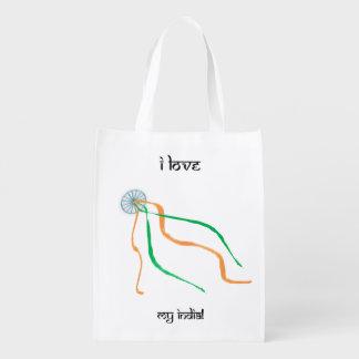 "Reusable Bag: ""I LOVE MY INDIA!"" Market Totes"