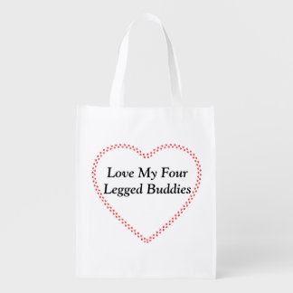 Reusable bag Love my buddies tote bag