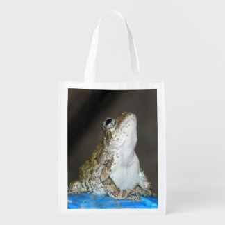 reusable bag w/frog grocery bags