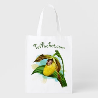 Reusable Bag - Yellow Lady Slipper Baby Reusable Grocery Bag