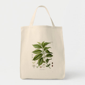 Reusable Coffee Plant Tote Bag