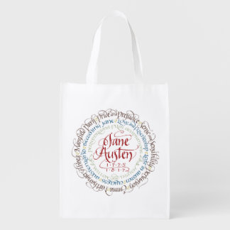 Reusable Grocery Bag - Jane Austen Period Dramas