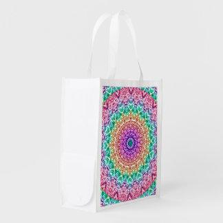 Reusable Grocery Bag Mandala Mehndi Style G379