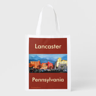 Reusable grocery bag with Lancaster City scene