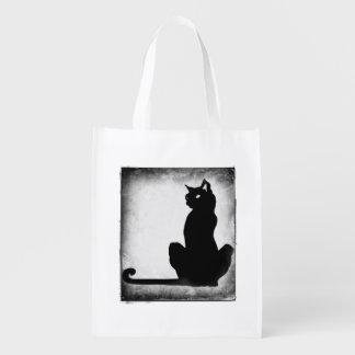 Reusable Halloween Black Cat Treat Bag