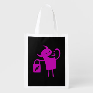 Reusable Halloween Purple Monster Treat Bag