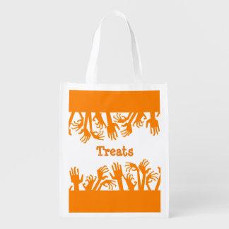 Reusable Halloween Zombie Hands Treat Bag