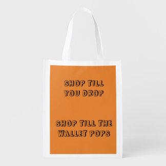 Reusable shopping bag market tote