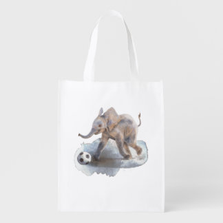 Reusable Shopping Bag - Playful Elephant