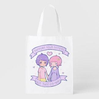 Reusable Support Your Sisters Bag Reusable Grocery Bag
