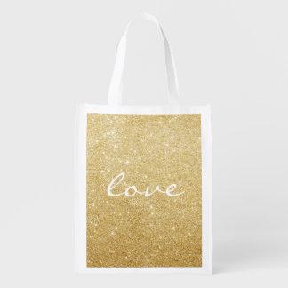Reusable Tote - Glittered Love