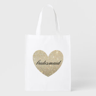 Reusable Tote - Heart Fab bridesmaid Grocery Bags