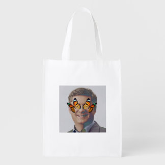 Reusable Totes Bag Stephen Harper Butterfly Reusable Grocery Bags