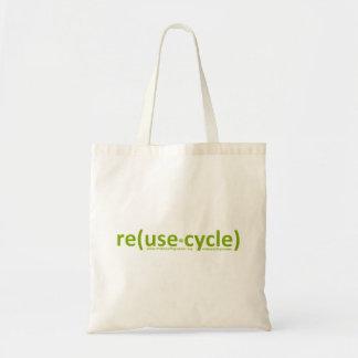 reuse recycle greener budget tote bag