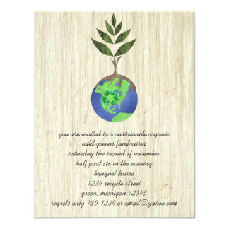 """ReUse ReDuce ReCycle 4.25"""" X 5.5"""" Invitation Card"""
