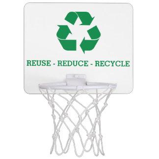 Reuse Reduce Recycle Mini Basketball Backboard