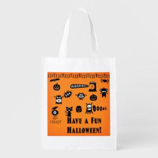 Reuseable Halloween Trick-or-Treat Bag Reusable Grocery Bags