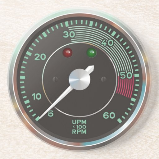 Rev counter / tachometer from classic sports car coaster