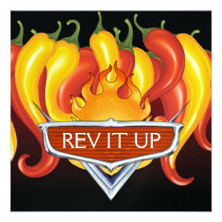 Rev It Up! - BBQ - Barbecue Custom Invitation