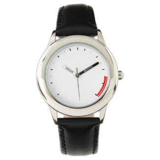 REV Tachometer Childs Watch with Leather Strap