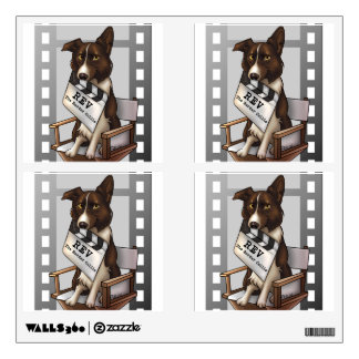 Rev the border collie wall sticker