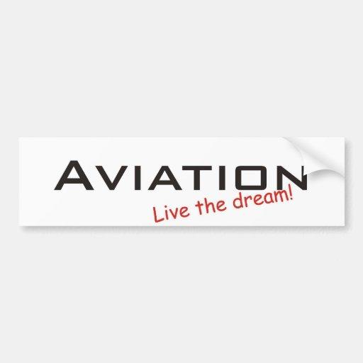 Rêve/aviation Autocollants Pour Voiture