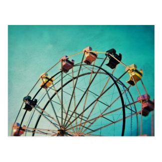 Rêve bleu vert - carte postale de photographie de