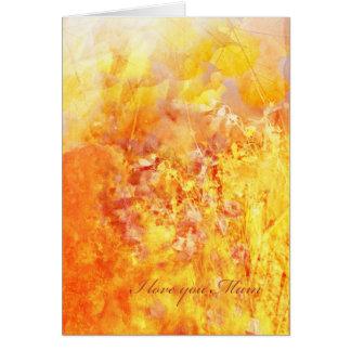 Rêve d'automne, pour la mère carte de vœux