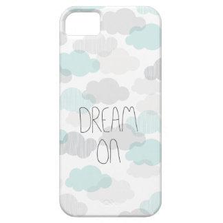 Rêve sur les nuages rêveurs marquant avec des lett coques Case-Mate iPhone 5