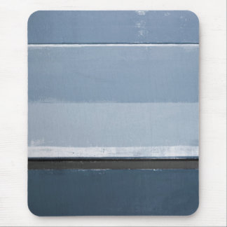 'Reveal' Blue and Grey Abstract Art Mouse Pad