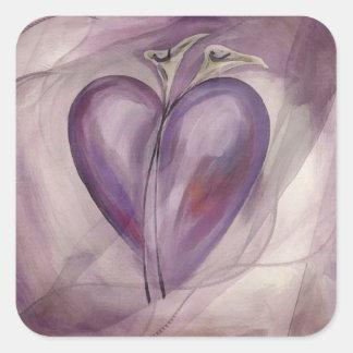 Revealing Heart Square Sticker