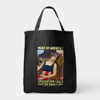 Réveillez l Amérique Affiche vintage de Première Sac
