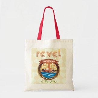 revel brewing company sack budget tote bag