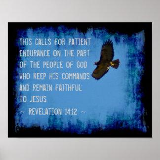 Revelation 14:12 poster