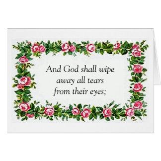 Revelation 21:4 Sympathy Card