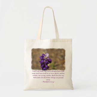 Revelation 21:4 tote bag