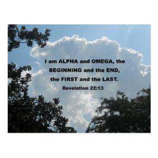 Revelation 22:13 I am Alpha and Omega... Postcard