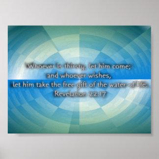 Revelation 22:17 poster