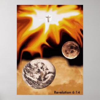 Revelation 6:14 Christian poster