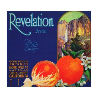 Revelation Orange LabelNaranjo, CA Canvas Print