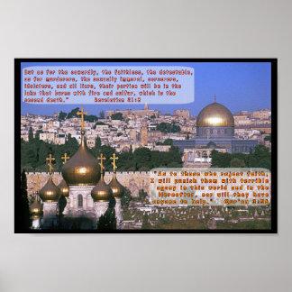 Revelations 21:8 & Qur'an 3:56 Poster
