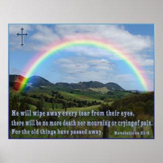 Revelations scripture 21:4  poster