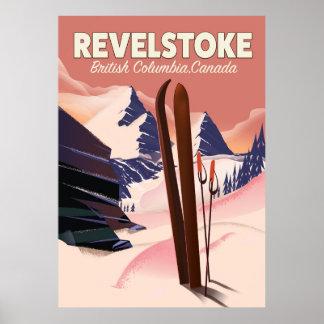 Revelstoke  British Columbia, Canada Ski poster