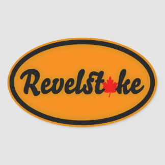 Revelstoke Maple Circle Oval Sticker