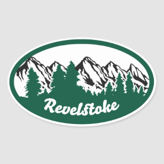 Revelstoke Mountain Oval Oval Sticker